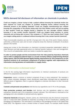 Chemicals - EEB - The European Environmental Bureau